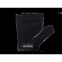 Перчатки черные с вертикальной светлой полосой