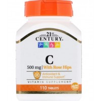 Vitamin C, with Rose Hips, 500 mg (110таб)