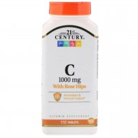 Vitamin C, with Rose Hips, 1000 mg (110таб)