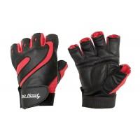Перчатки черно-красные без фиксатора