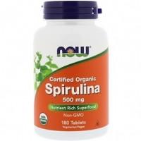 Сertified Organic Spirulina 500mg (180таб)